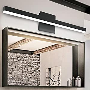 Black Bathroom Light Fixtures Over Mirror  Modern Led Bathroom Vanity Lights for Bathroom Wall Light