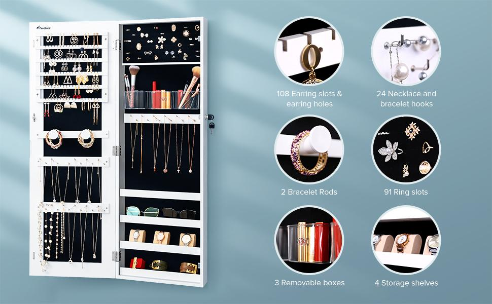 hanging jewelry armoire