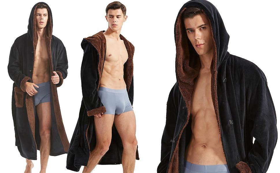 robe for men fleece