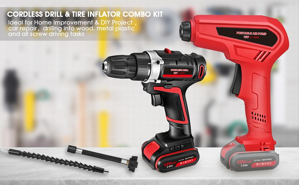 Ideal for home improvement & DIY project, car repair, drilling into wood, and all screw driving.