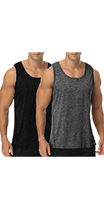 Babioboa Men Athletic Workout Tank Top Mesh Dry Fit Casual Sleeveless Shirts
