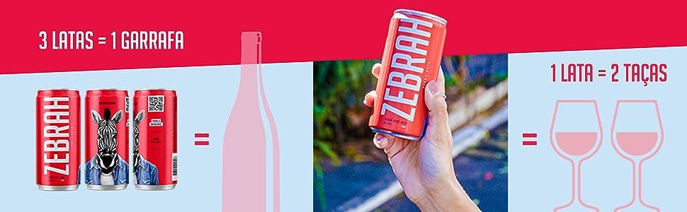 3 latas = uma garrafa, 1 lata = 2 taças, vinho em lata, vinho rose, vinho branco, vinho