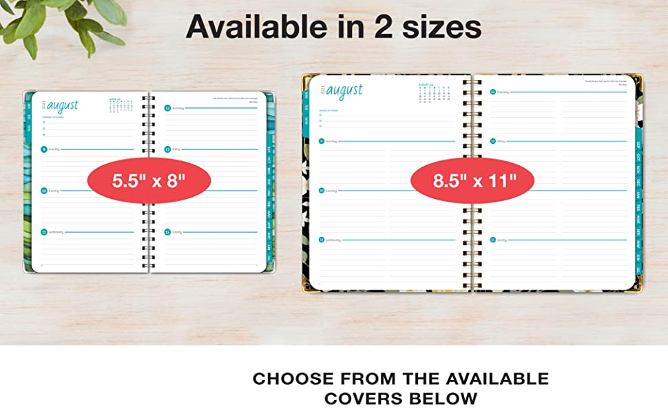 """Available in 2 sizes - 5.5"""" x 8"""" and 8.5"""" x 11"""""""