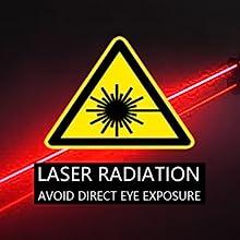 Laser dangerous avoid direct eye exposure