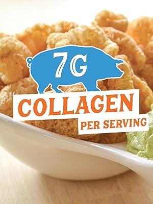 Our pork rinds have 7g of collagen per serving