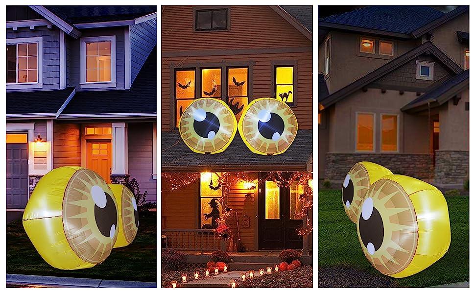 Halloween Inflatables Double Yellow Cute Eyeballs