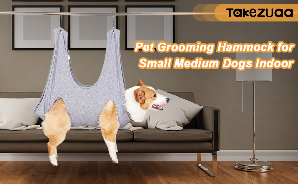 Pet Grooming Hammock for Small Medium Dogs Indoor