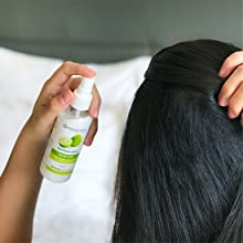 Designed with sprayer, ideal for application from scalp to ends
