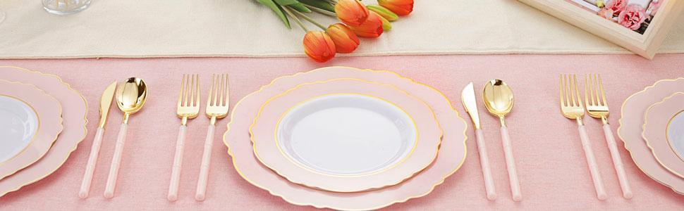 pink plates plates