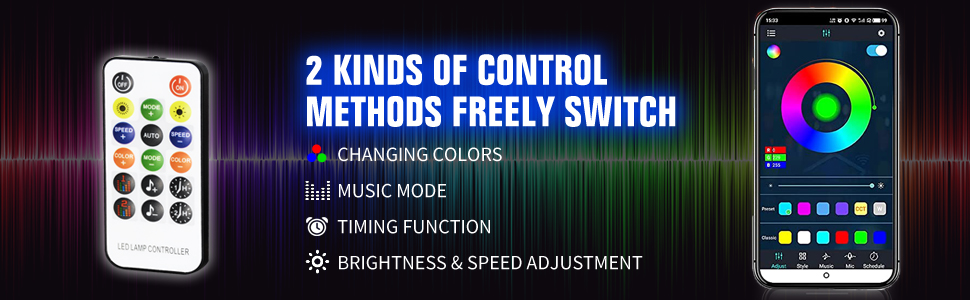 2 kinds of control methods