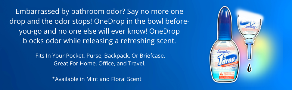 OneDrop blocks odor while releasing a refreshing scent.