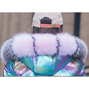 girls hooded winter down jacket