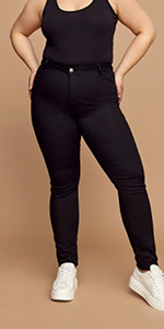 NILLE zizzi bootcut jeans große größen hoher taille skinny size 44 46 48 50