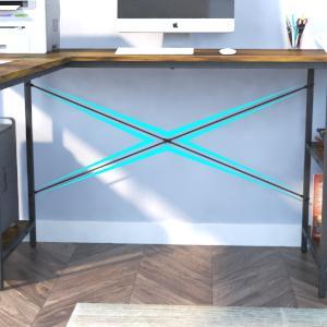 wooden l shaped desk