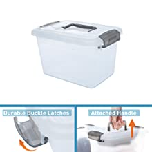 Durable Buckle Latches & Attached Handle