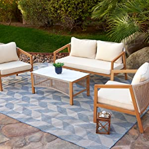 Contemporary Powder Coated Furniture Set