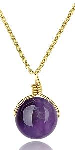 Round Bead Pendant Necklace