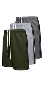 Boyoo Big Boys Youth 3 Pack Dri Fit Athletic Shorts