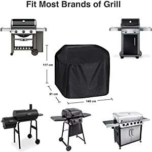 Barbecue cover weatherproof grill cover 210D Oxford fabric gas grill cover
