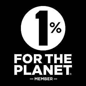 1% for the Planet member logo. Sustainability partnership