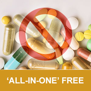 no caffeine sugar GMOs binders filler preservatives clean label all-in-one pills non addictive