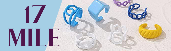 hick resin acrylic ring,