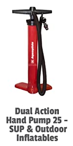 Dual Action hand Pump 25- SUP amp; Outdoor Inflatables
