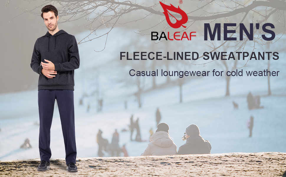 fleece lined sweatpants