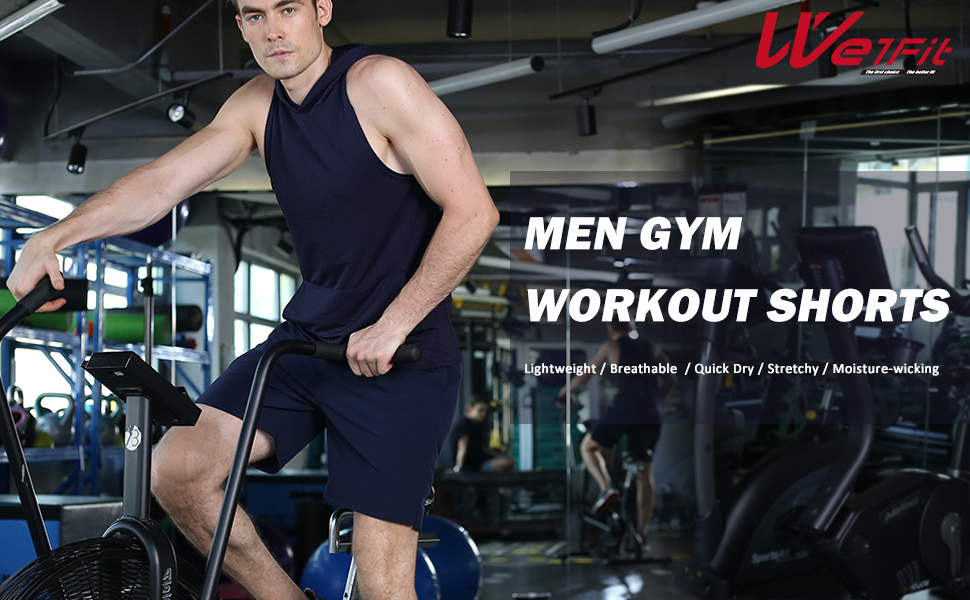 Men's 2 Pack Gym Workout Shorts Quick Dry Bodybuilding Training Running Jogger with Pockets