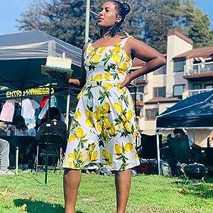 lemon dress for women
