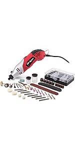 160W 1.4A Corded Rotary Power Tool Kit Set