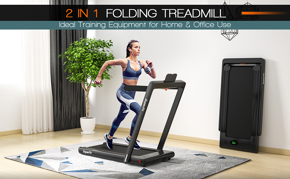 2 in 1 design treadmill and walking machine