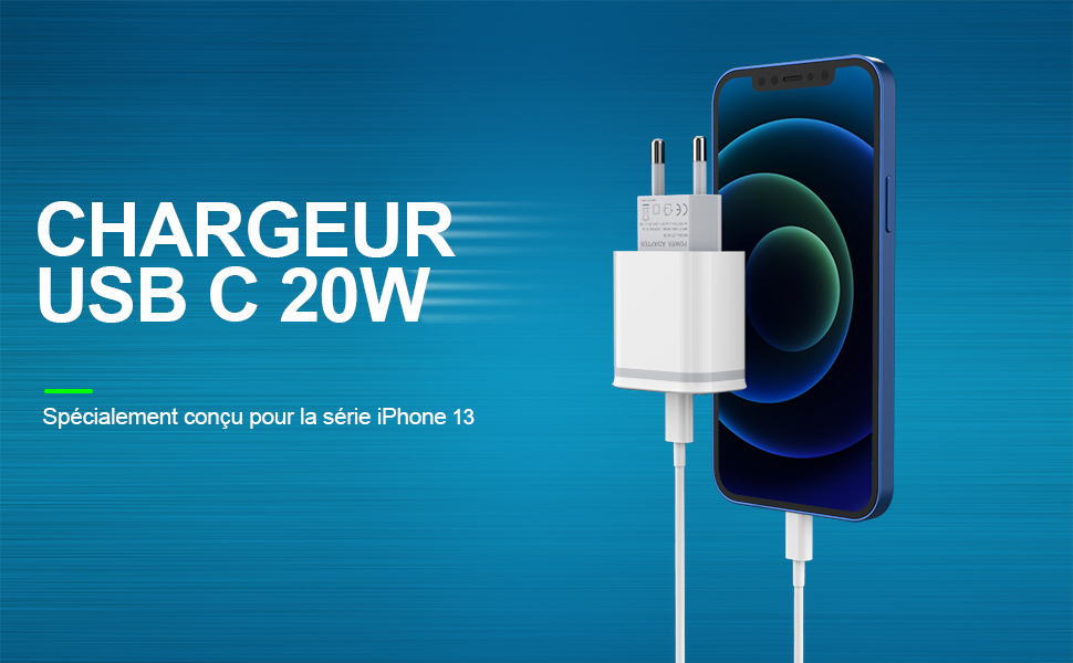20W USB C Chargeur