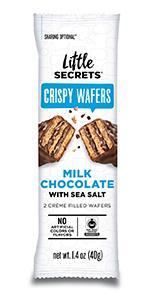 Little Secrets Milk Chocolate amp; Sea Salt Crispy Wafers