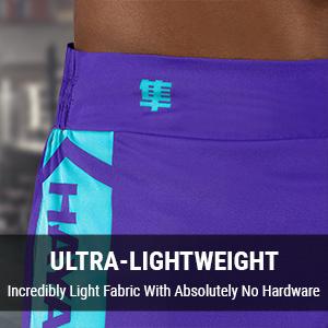 Purple and Teal Hayabusa Icon Kickboxing Shorts