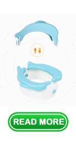 Baby Cute Dolphin Travel Potty Toilet Training Seat