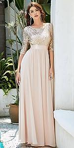 V-Neck Sequin Maxi Dress Long Evening Dress
