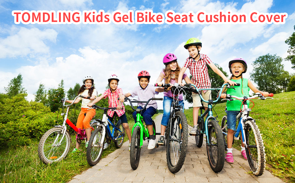 TOMDLING Kids Gel Bike Seat Cushion Cover