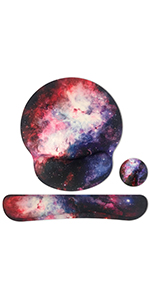 Galaxy mouse pad with wrist support