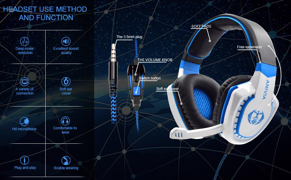 headset for computer headset for pc wired headset gamer headset headset microphone gaming mic