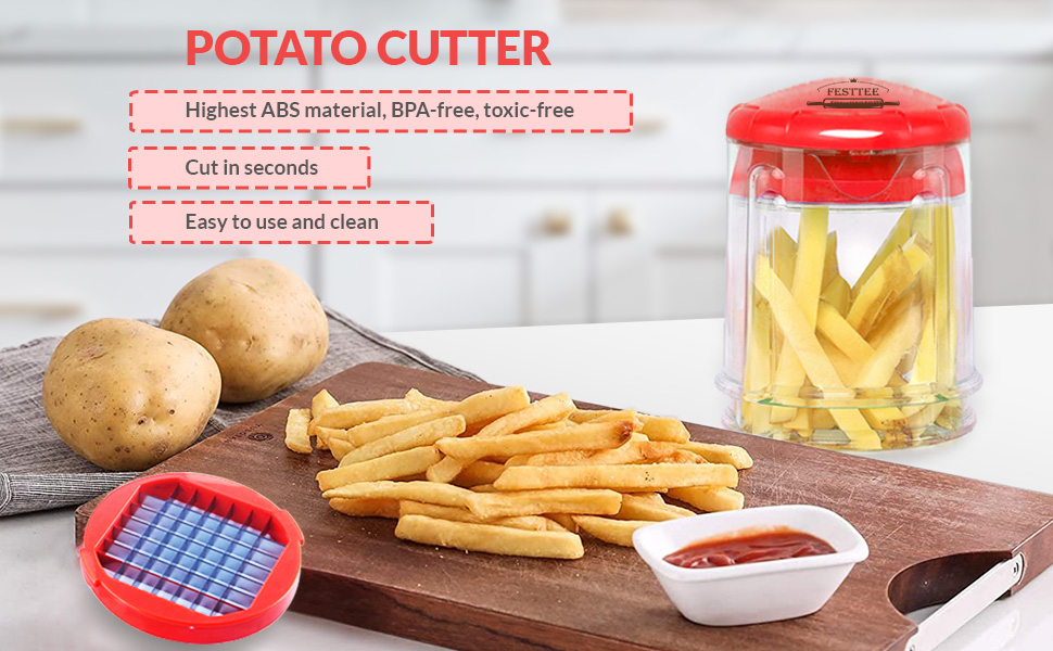 This metal French fry cutter is the perfect slicer that you must have in your kitchen.