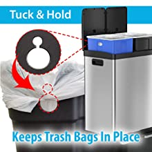 Tuck and Hold Bag Retention System