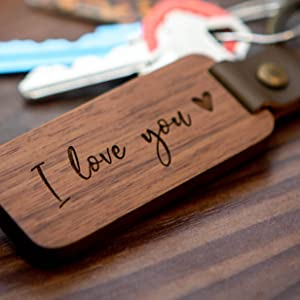 *Hold key to your heart PADAUK WOOD KEYRING*10ct gold plated keyring*Woodturning*Gift for wood lover birthday anniversary 5th is wood