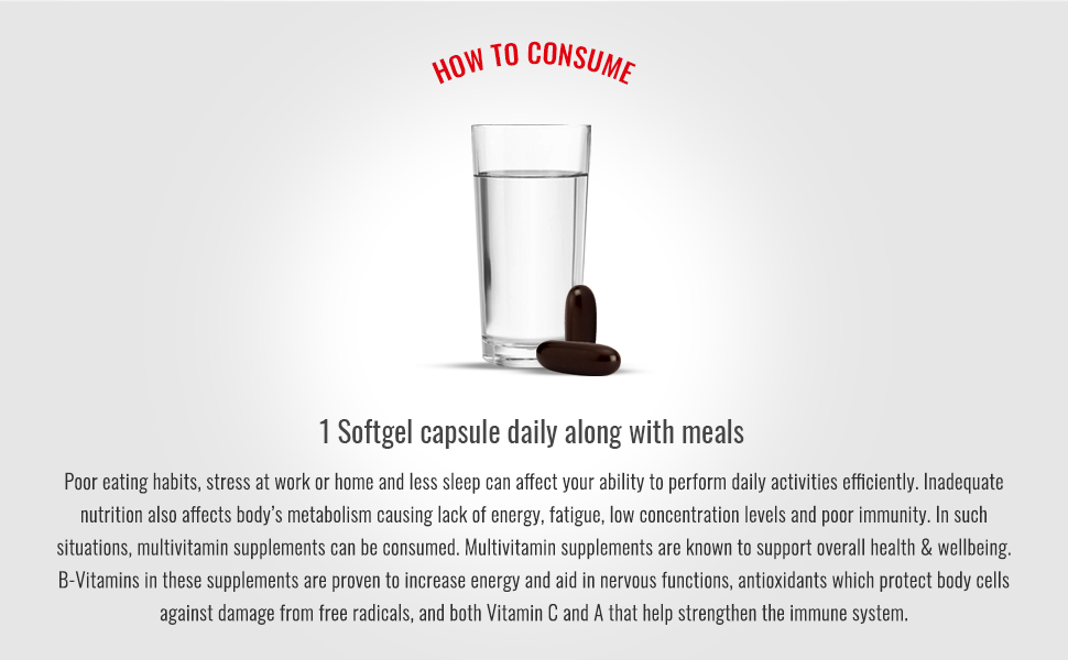 How to consume multivitamins