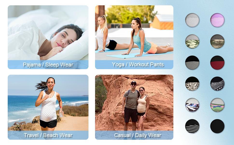 Maternity Shorts Activewear Maternity Pajama Pant Workout Running Athletic Lounge Shorts