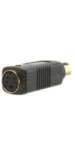 S Video to RCA Adapter, S-Video (MiniDin4) Female to RCA Female