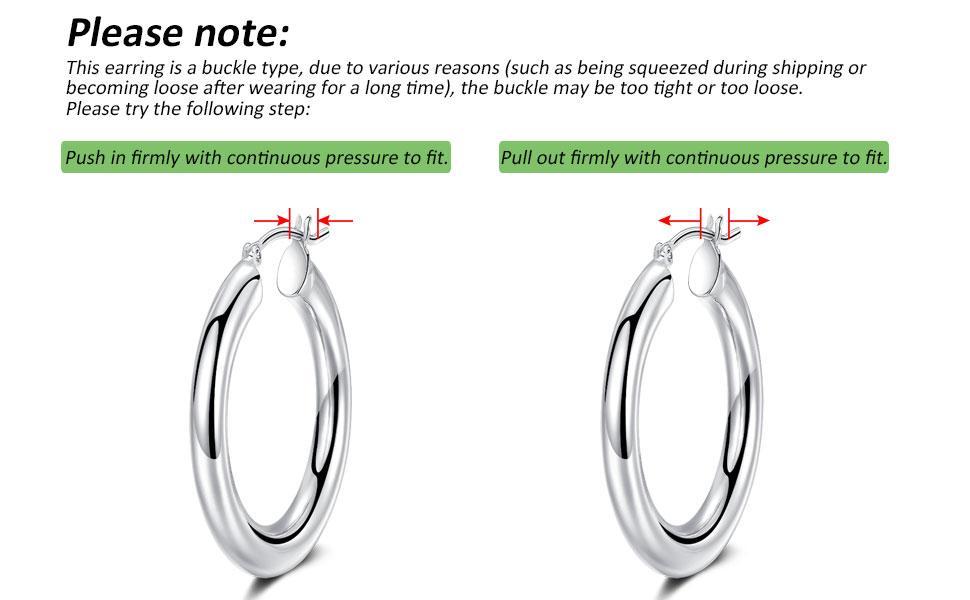 chunky hoop earrings for women gold white gold silver hoop earrings