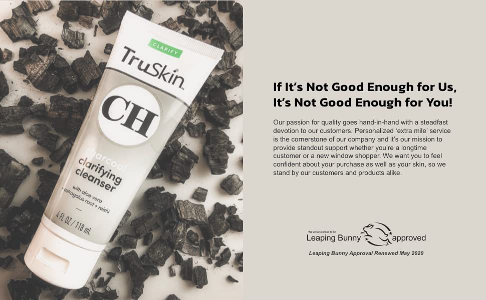 TruSkin Charcoal Face Wash is Leaping Bunny Certified