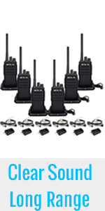 walkie talkies with earpiece and mic