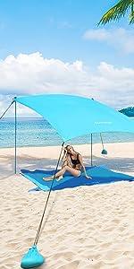 camping tent shelter ninja beach shade canopy sun packable umbrella pop up 10x10
